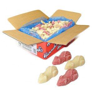 Hannahs Giant Pink & White Mice - 3Kg