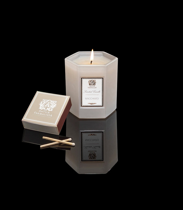 Antica Farmacista Antica Coffee Candle, Macchiato + Box of Matches Set