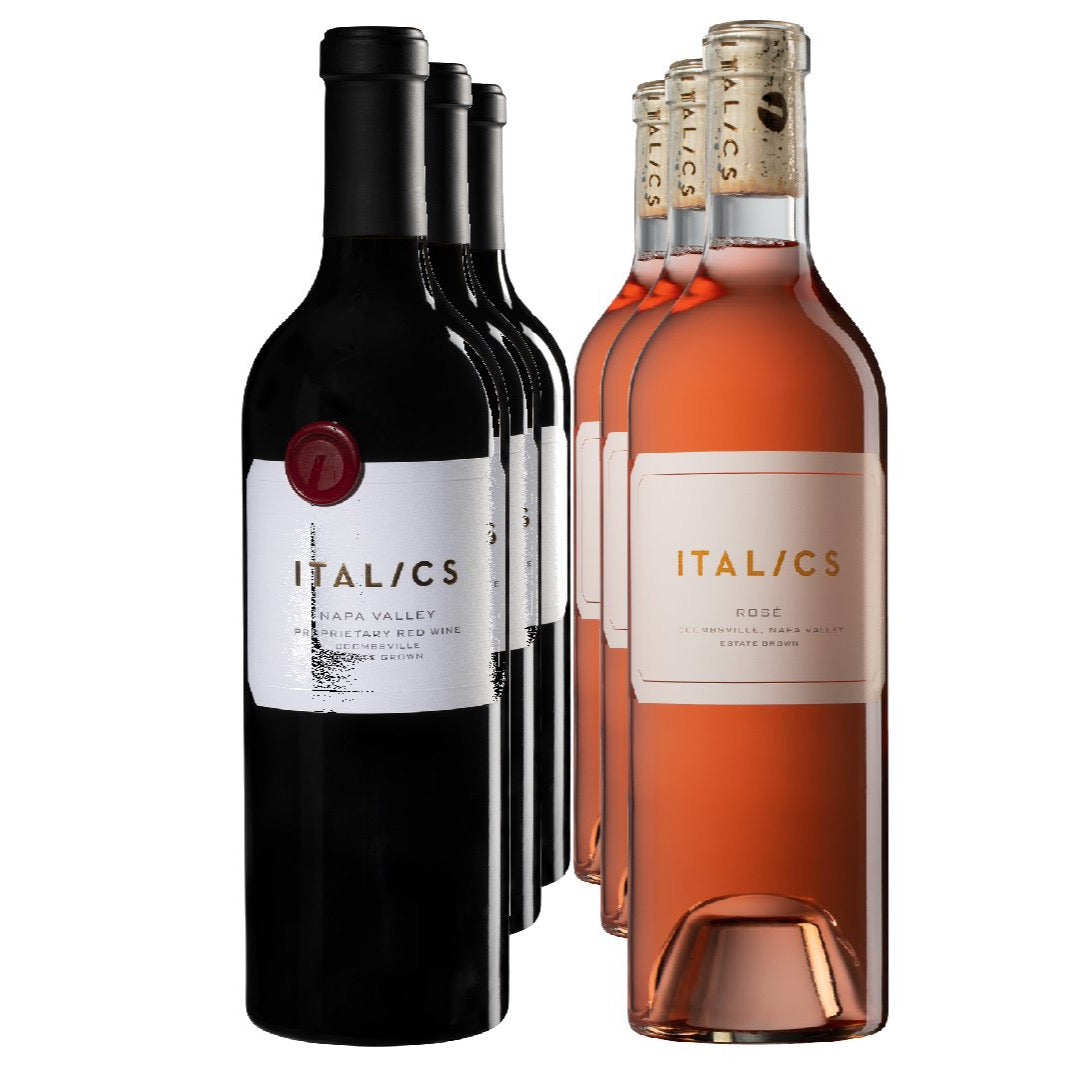 Italics Estate Rose & Red Wine Half Case
