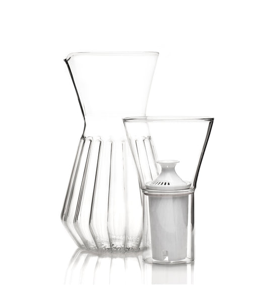 Fferrone Fluted Talise Water Filter Carafe