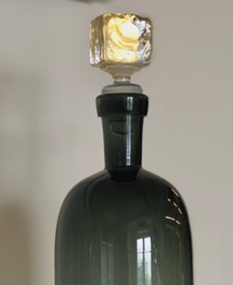 Nate Cotterman Smoked Gold Cube Decanter