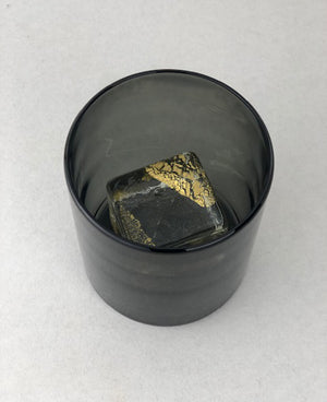 Nate Cotterman Smoked Gold Cube Glass- Petite