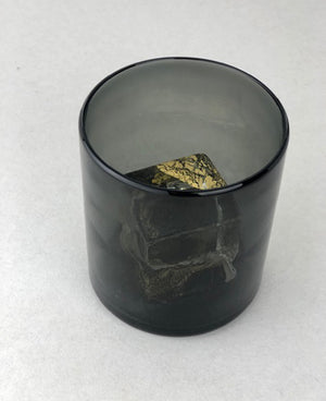 Nate Cotterman Smoked Gold Cube Glass- Rocks