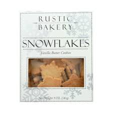 Rustic Bakery Vanilla Butter Snowflake Cookies( Set of 2)