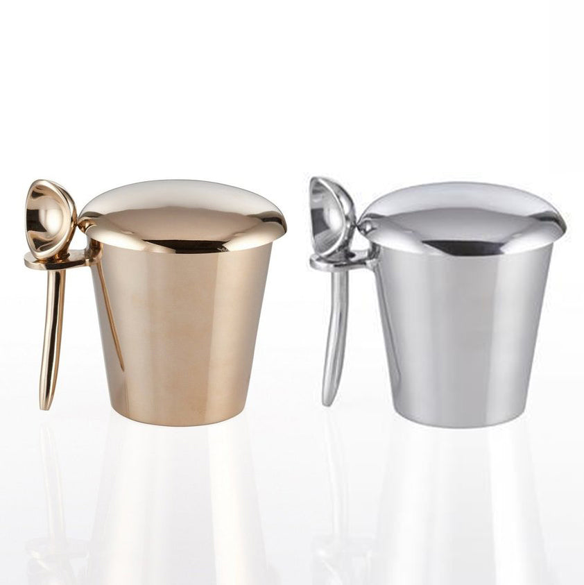 Lunares Set of Two Metallic Pint Icecream Holders - A Special Vices Edition