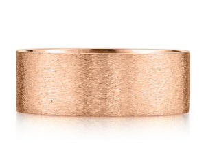 AMUSEZ 8mm Square Cut Rose Gold Ring