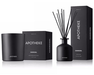 APOTHEKE Reed Diffuser + Signature Candle Set - Charcoal