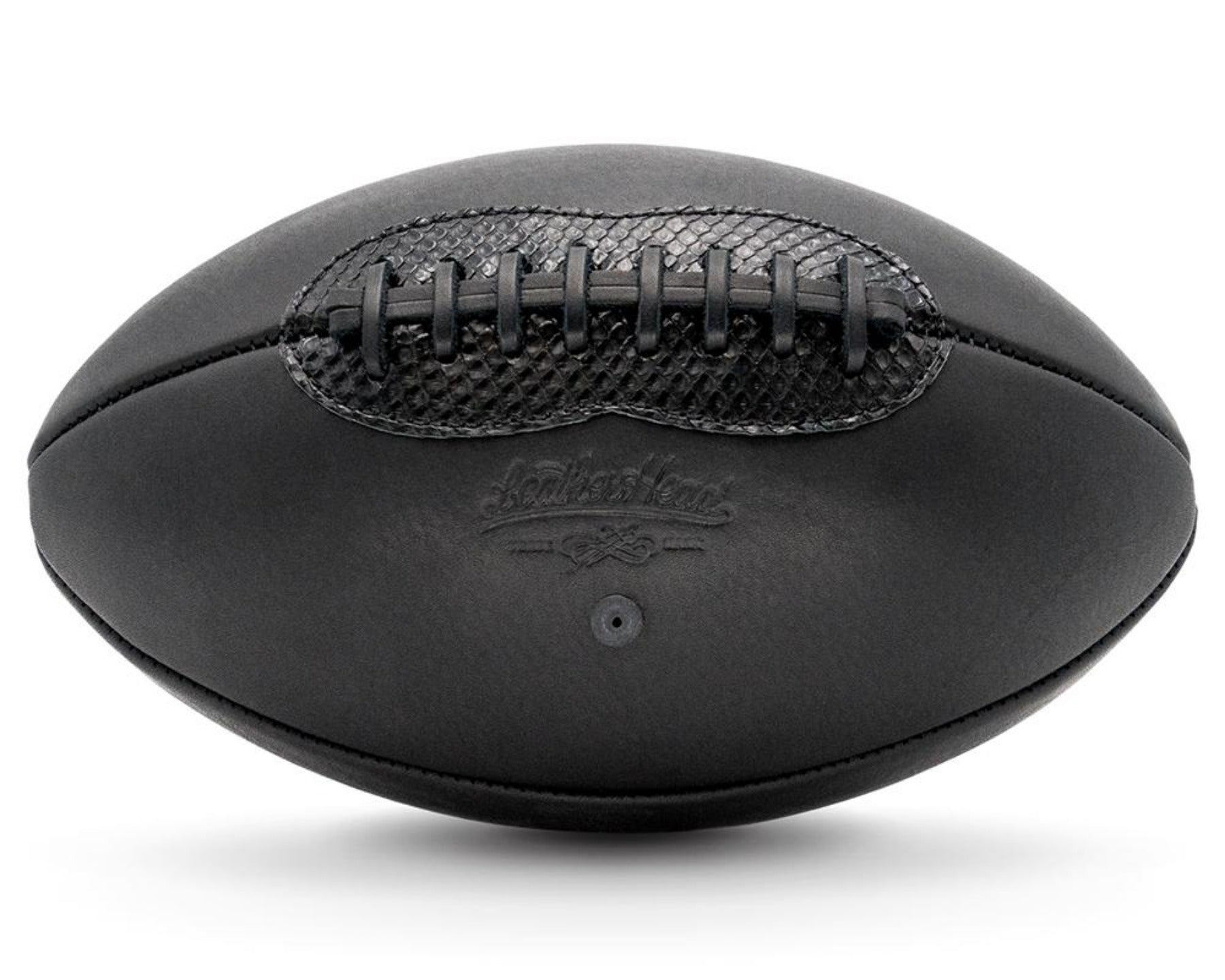 Leather Head Sports Onyx Handmade Football with Python Accent