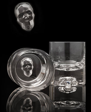 "Quartet of Nude ""Shade"" Crystal Glasses"