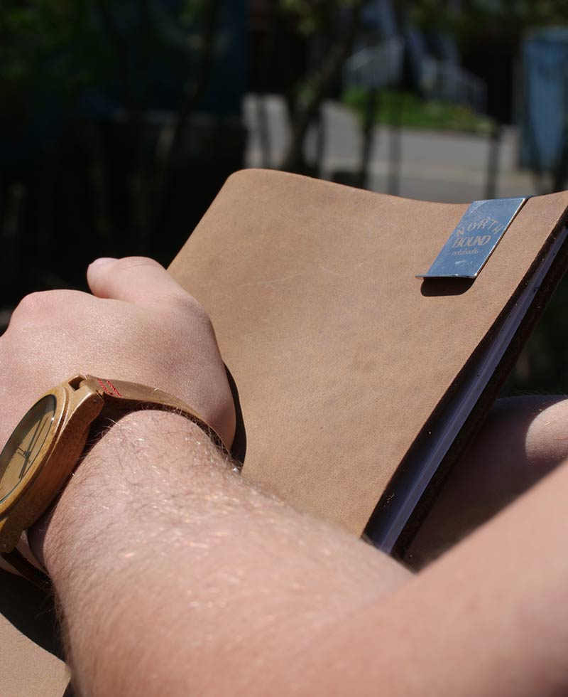 Northbound Notebooks Buffalo Leather Notebook and Paper