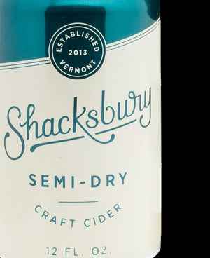Shacksbury Semi Dry Cider (6-Pack)