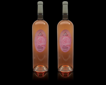Two Large Magnums of Fine Rosé