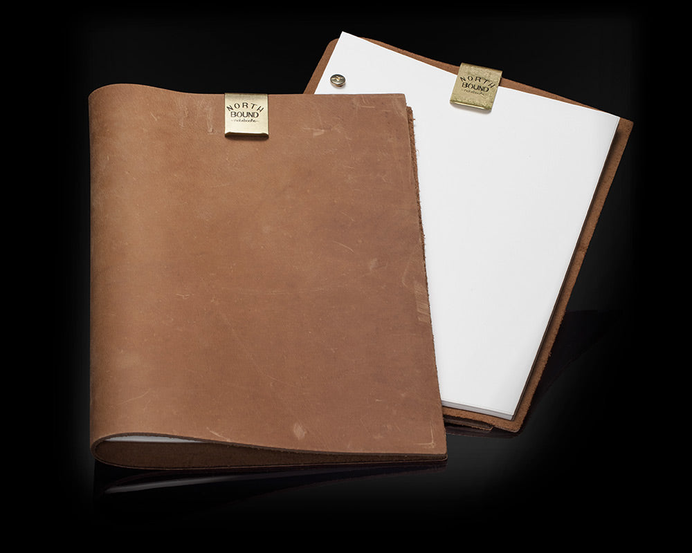 Northbound Notebooks Buffalo Leather Notebook & Paper (Set of 2)