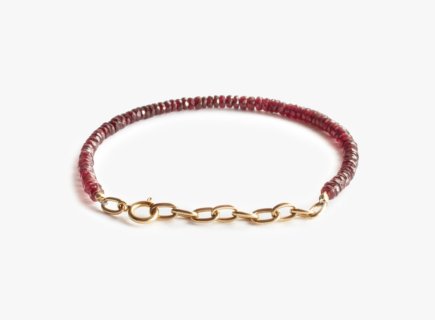 Title of Work Ruby Gold Oval Chain Bracelet