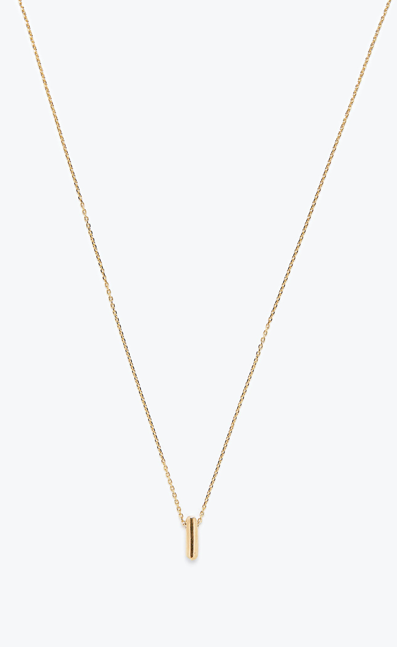 Title of Work Gold Bar Necklace
