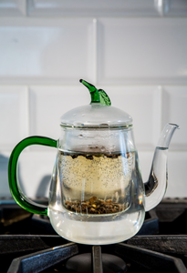 Glass Leaf Infuser