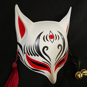 Sharp Ears Kitsune Mask - The Third Eye in Red | Foxtume
