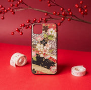Red Cherry Blossom Japanese Phone Case