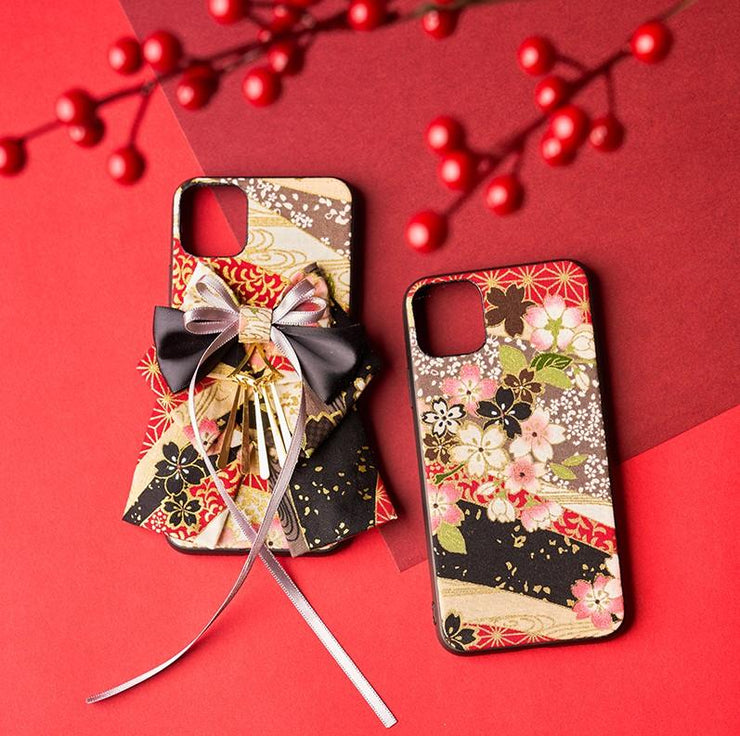 Two Red Cherry Blossom Japanese Phone Case