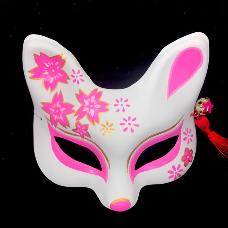 Kitsune Mask | Eye Level Japanese - Pink Sakura | Foxtume