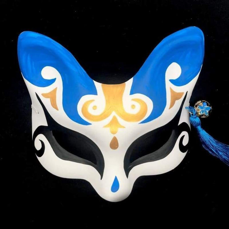 | Eye Level Kitsune Mask - Blue Wizard | Foxtume