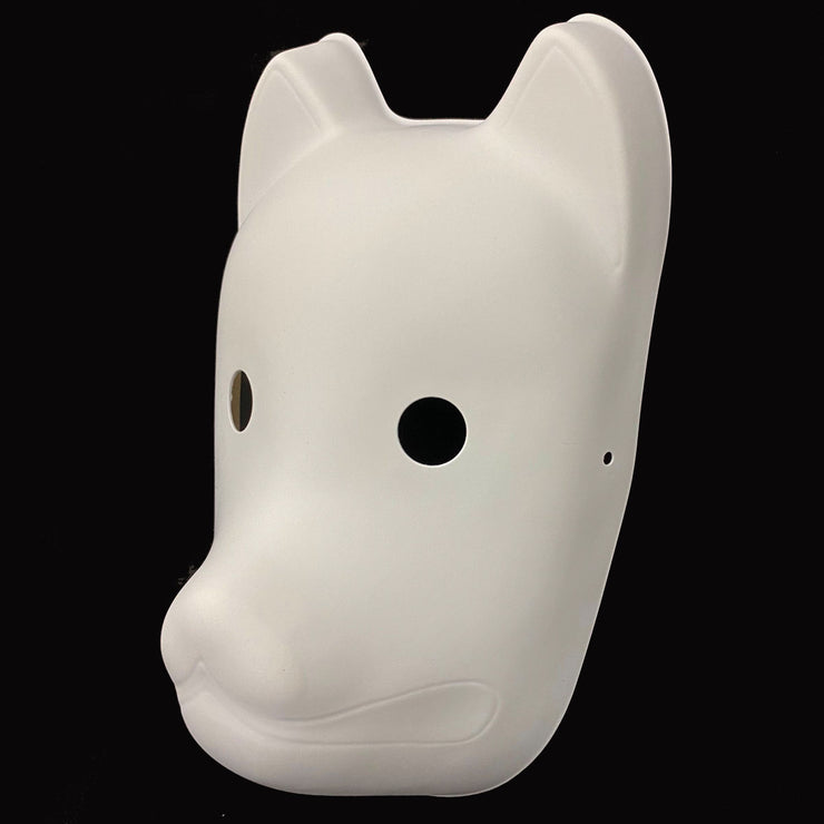 Blank Kitsune Mask for Painting | Foxtume
