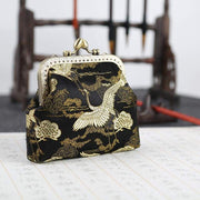 Fabric Craft | Gorgeous Crane Buckle Coin Purses Vintage Pouch | Foxtume