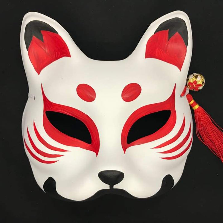 | Half Face Kitsune Mask - Ancient Beauty | Foxtume