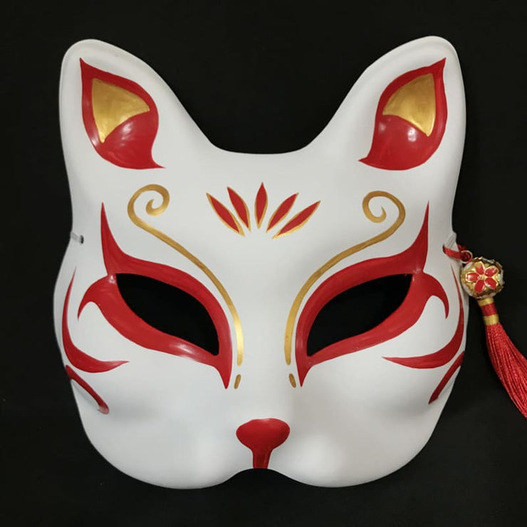 Kitsune Mask | Half Face - Oriental Beauty | Foxtume