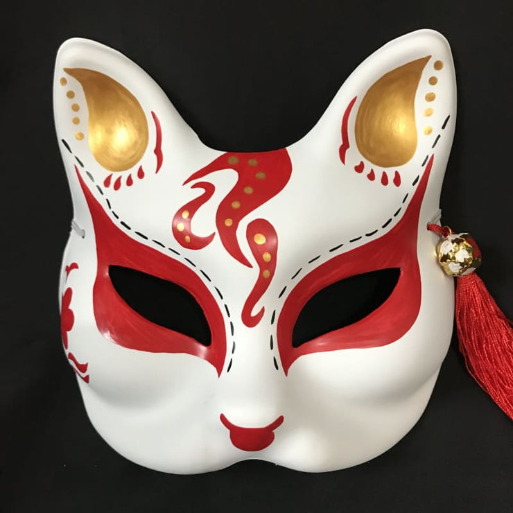 Kitsune Mask | Half Face - Red Comet | Foxtume