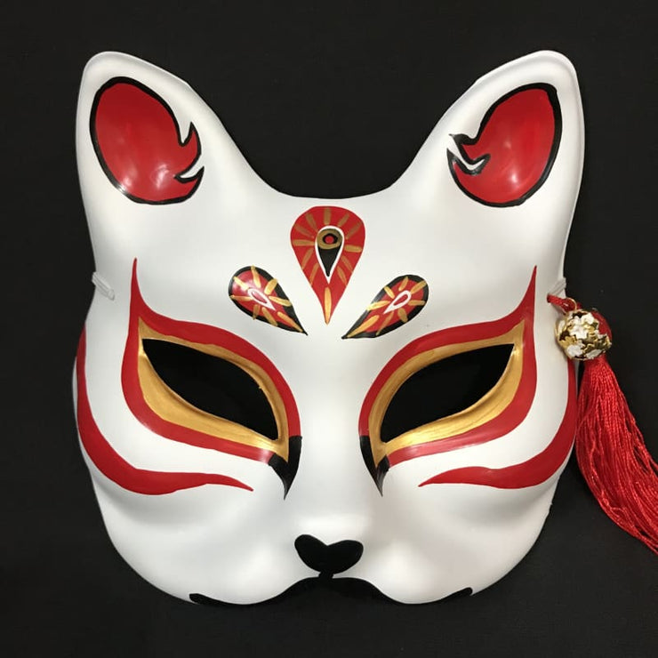 Kitsune Mask | Half Face - The Jades | Foxtume