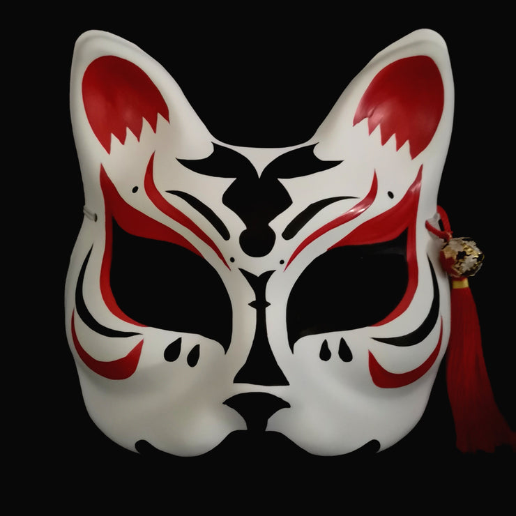 | Half Face Kitsune Mask - The Vampire | Foxtume