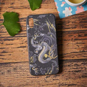Phone Case | Handmade Black & Gold Dragon Fabric (Pre-Order) | Foxtume