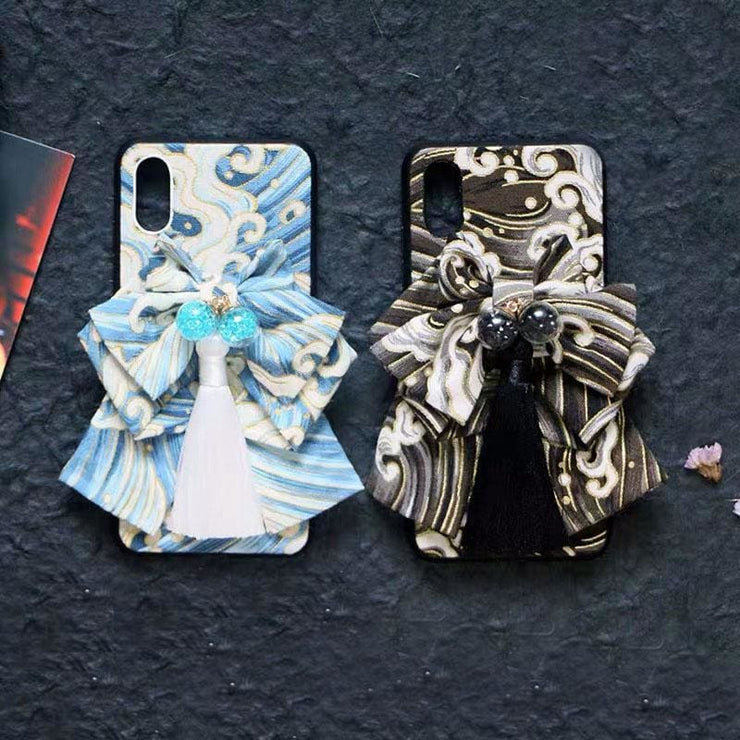 Blue and Black Great Wave Japanese Phone Cases