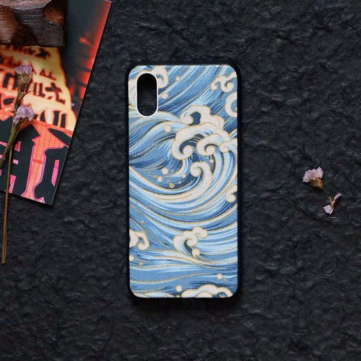 Blue Great Wave Japanese Phone Case