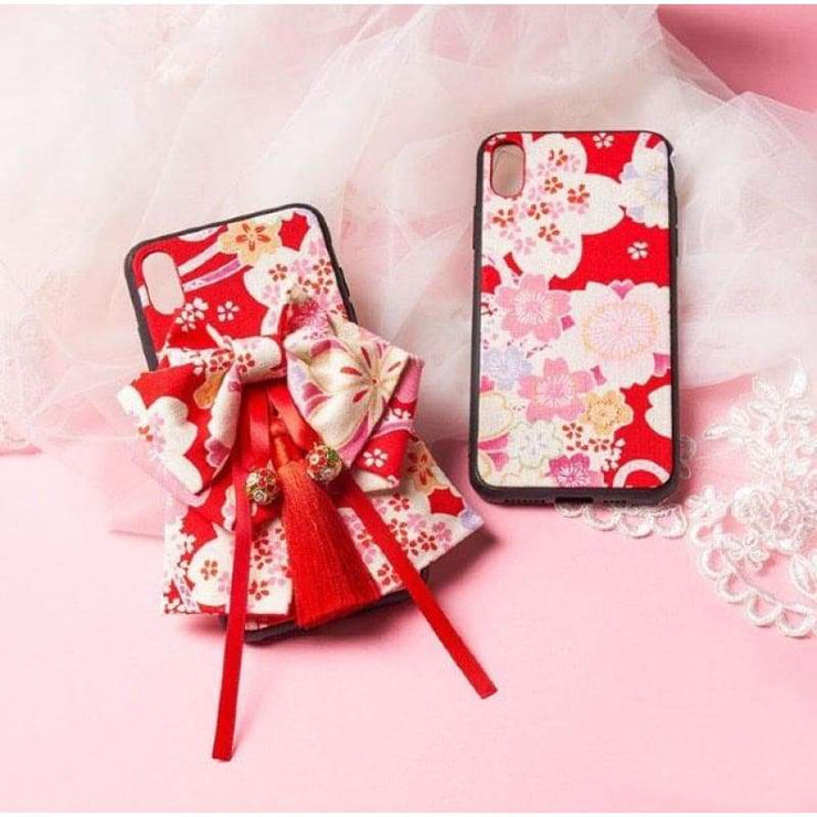Phone Case | Handmade Japanese Floral Fabric (Pre-Order) | Foxtume