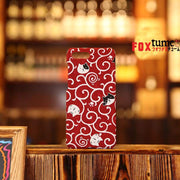 Phone Case | Handmade Red & White Cat Japanese Fabric (Pre-Order) | Foxtume
