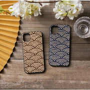 Phone Case - Handmade Seigaiha Ocean Wave Fabric (Make To Order) - Foxtume