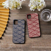 Red & Blue Ocean wave pattern phone cases