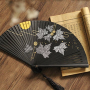 Japanese Folding Fan【Maple Leafs】