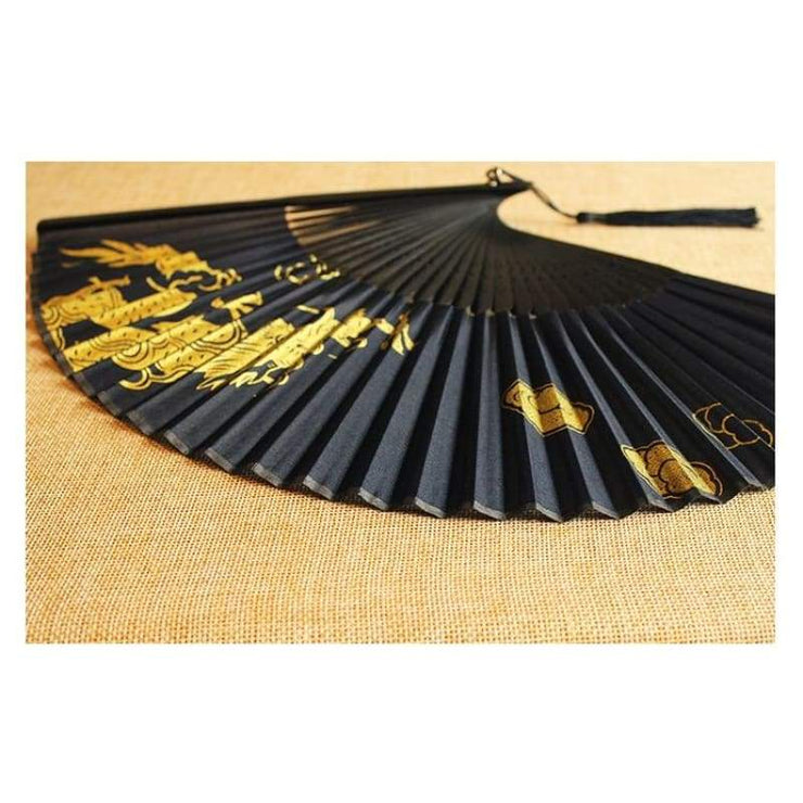 Hand Fan | Japanese Folding - Golden Dragon | Foxtume