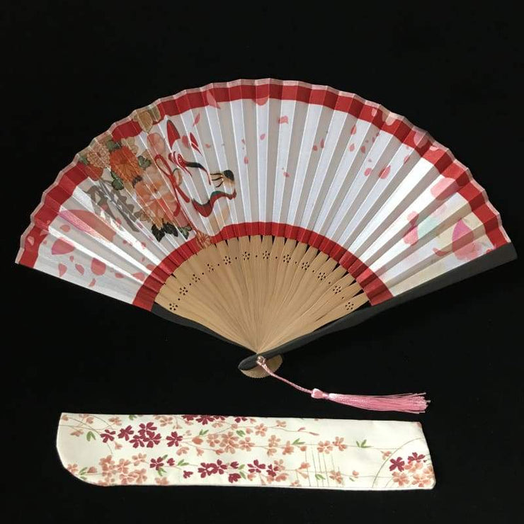 Hand Fan | Japanese Folding - Kitsune Mask | Foxtume