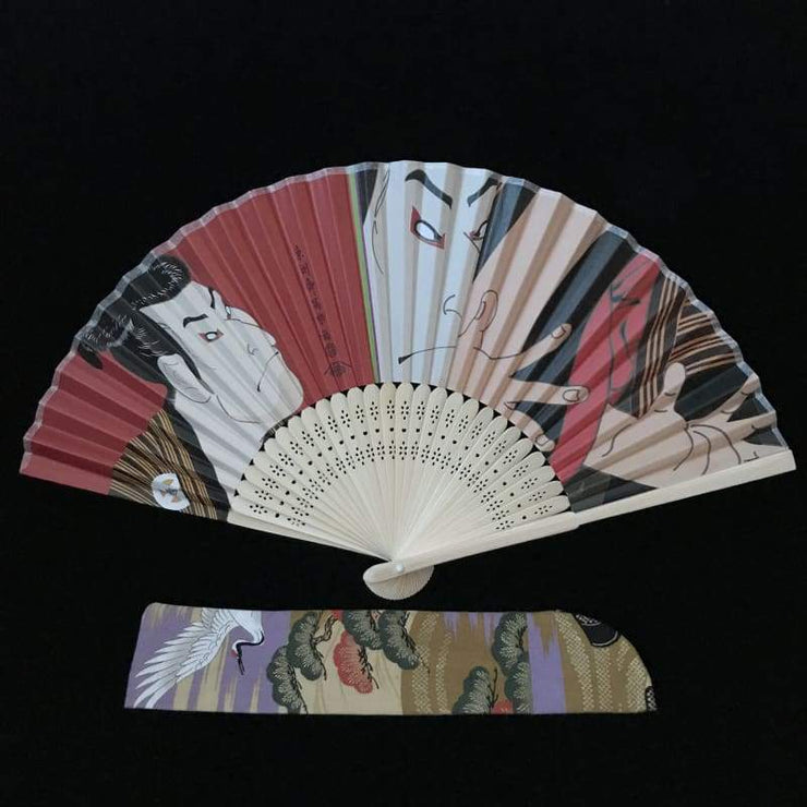 Hand Fan | Japanese Folding - Male Kabuki | Foxtume