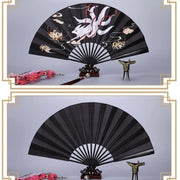 Japanese Folding Fan - Blossom and Nine-tailed