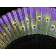 Hand Fan | Japanese Folding - Peafowl | Foxtume