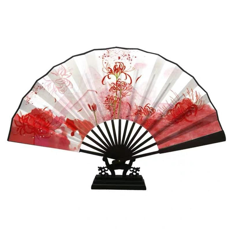Hand Fan - Japanese Folding - Spider Lily【new Item⭐️】 - Foxtume