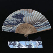 Hand Fan | Japanese Folding - The Great Wave Kanagawa | Foxtume