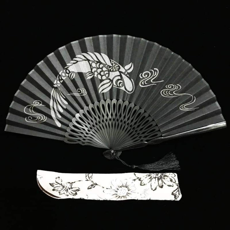 Hand Fan | Japanese Folding - Transparent Koi | Foxtume