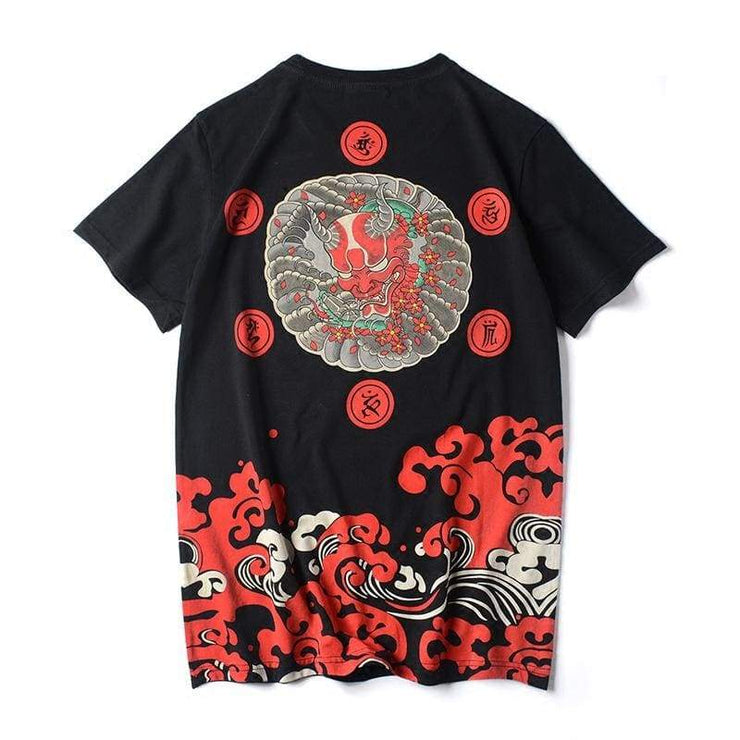 T-Shirt | Japanese Ghost Head X Bloody Great Wave | Foxtume