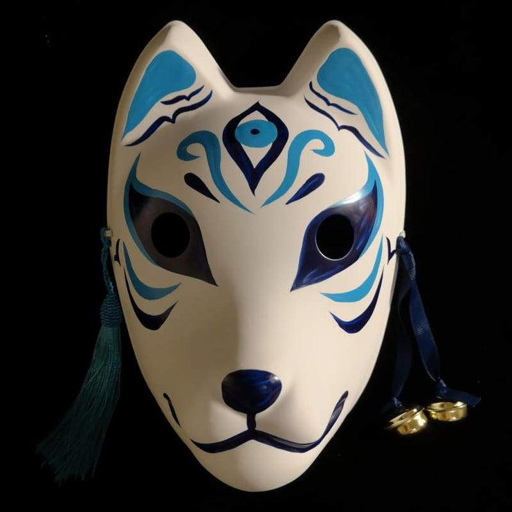 Kitsune Mask | The Third Eye In Blue | Foxtume